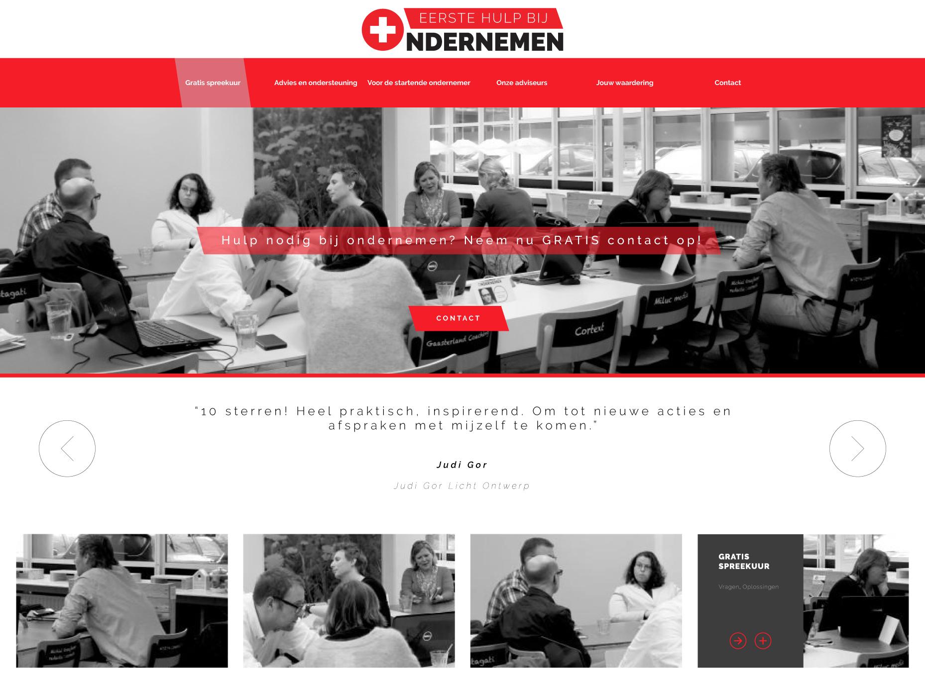 Eerste Hulp Bij Ondernemen - Webdesign