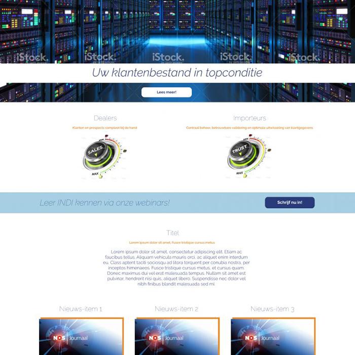 INDI Platform - Webdesign